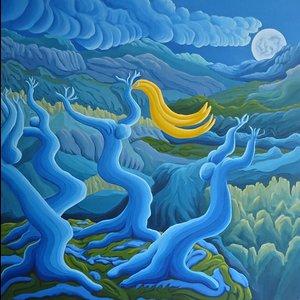 Full Moon 3 Mark Ashton Vey Painting Acrylic
