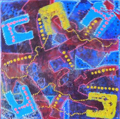 les formes Dominik Senaq Painting Acrylic on Canvas