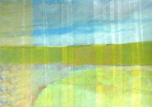 Störbild grün Skadi Engeln Peinture Acrylique, Pastel sur Toile