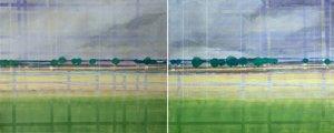 Berry gelb-grün durchwebt Skadi Engeln Peinture Huile, Tempera, Craie sur Toile