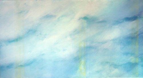 Wolken hellblau Skadi Engeln Peinture Huile, Pastel, Tempera, Craie sur Toile