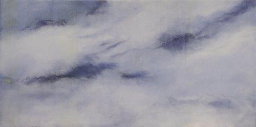 Wolken blau und schwer Skadi Engeln Malerei Öl, Pastell, Tempera, Kreide auf Leinwand