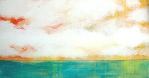 Himmel und Meer türkies Skadi Engeln Peinture Huile, Pastel, Tempera, Craie sur Toile