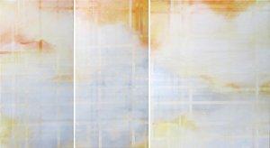 Wolken oragnge-grau durchwebt Skadi Engeln Malerei Öl, Pastell, Tempera, Kreide auf Leinwand