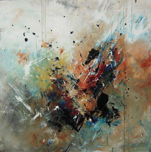 Caresse des couleurs Roseline Al Oumami Painting Acrylic on Canvas