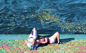 Parc de La Villette, canal 4 Monique Wender Photographie Digital sur Papier