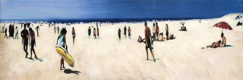 Moliets, peinture Monique Wender Peinture Huile sur Toile