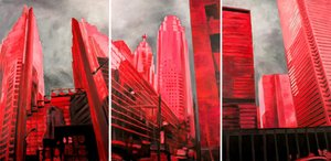 Toronto Monique Wender Peinture Acrylique sur Toile