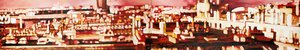 Paris, porte de Pantin rouge Monique Wender Peinture Acrylique sur Toile