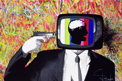 KILL YOUR TV Vincent Bardou Painting Graffiti