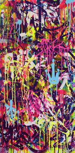 FREE STYLE Vincent Bardou Painting Acrylic, Spray paint on Canvas