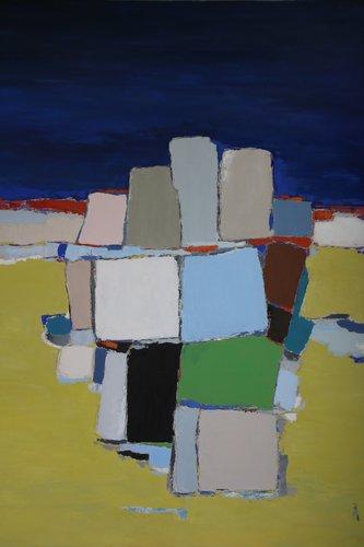 Bord de mer  le Lavandou Anne Gaëlle Arnaud Painting Oil on Canvas