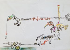 Irréalité VII Benjamin Deguenon Drawing Pastel