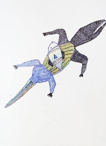 Animal-erie VII Benjamin Deguenon Drawing Pastel