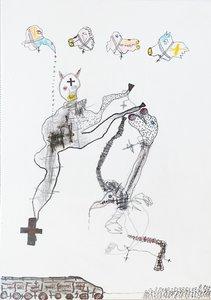 Animal-erie X Benjamin Deguenon Drawing Pastel