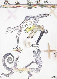 Animal-erie VI Benjamin Deguenon Drawing Pastel