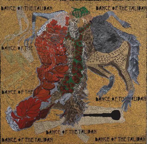 Dance of the Taliban Farina Alam Zeichnungen Acryl, Füller auf Papier