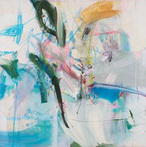 """From the far side of the ocean"" Birgit Fechner Malerei Acryl, Collage auf Leinwand"