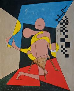 the room Jean-Luc Feugeas Malerei Acryl auf Leinwand