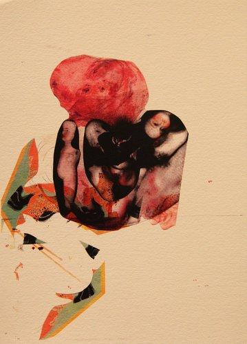 Untitled Zi Ling Digital Collage sur Papier