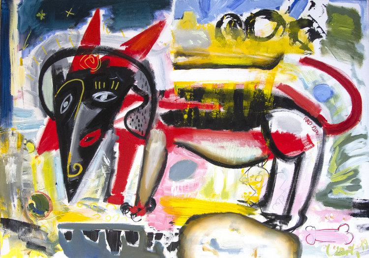 Dachshund Dog 2019 Malerei By Maciej Cieśla 2019 Painting Oil On
