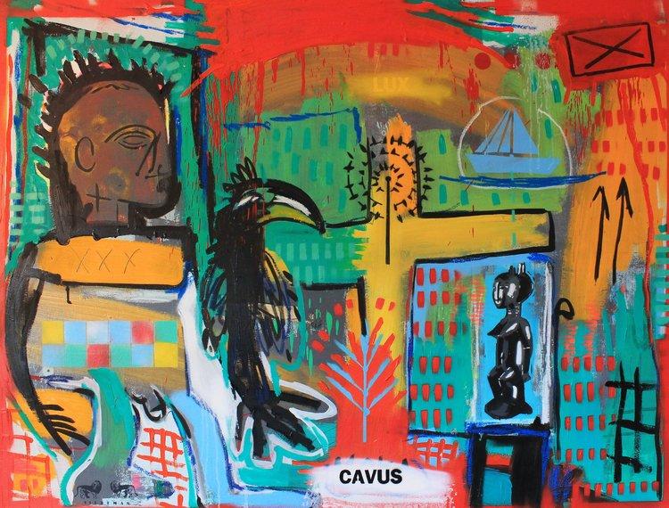 LUX-CAVUS Richard Vildeman Painting  on Canvas