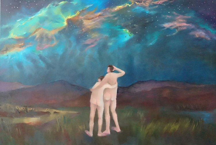 Stargazing (Wanderlust) Irene Lafferty Painting Oil on Canvas