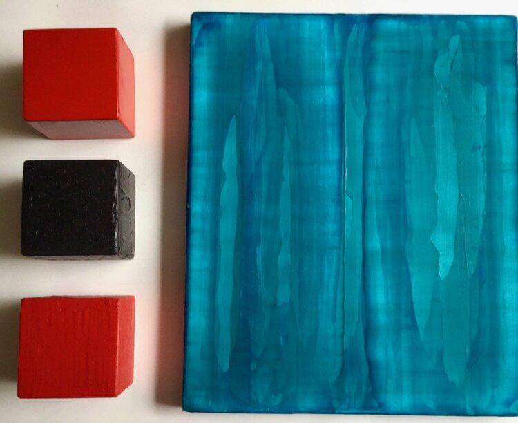 peinture monochrome en rouge en bleu. de Thomas Peter Kausel (0) : Peinture Huile sur Bois ...