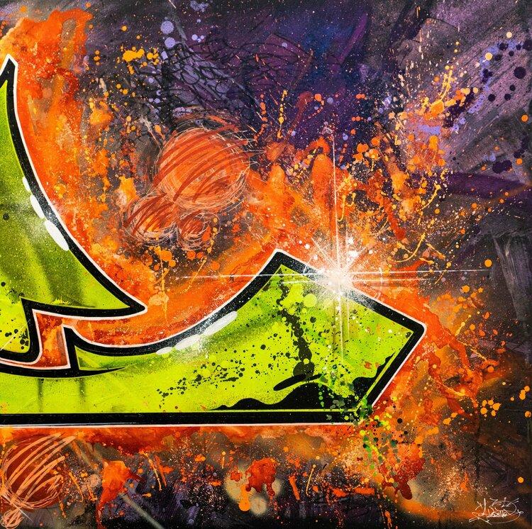 Definition L 2 2 De Amelie Kremer 2019 Peinture Acrylique Graffiti Sur Bois Singulart