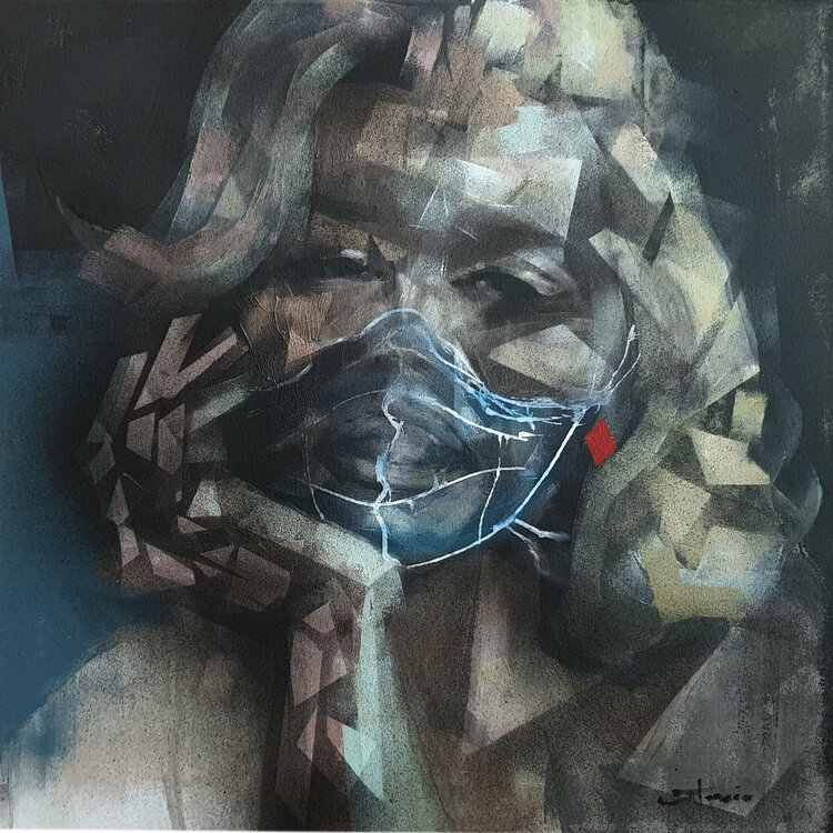 Pandemic state by Razvan Stanciu (2020) : Painting Acrylic on ...