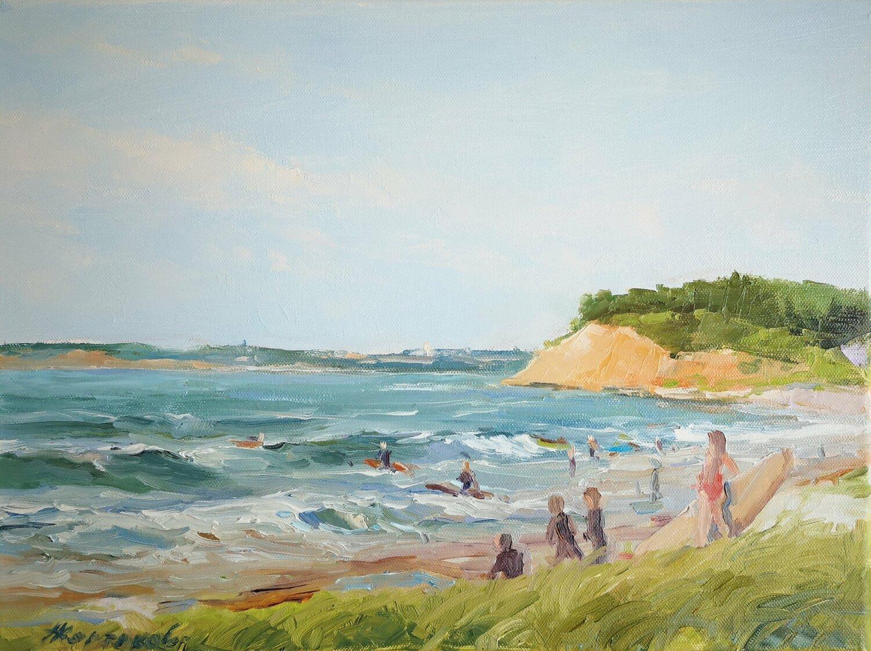 Carol Robinson Summer Vacation I Keilrahmen-Bild Leinwand Strand Meer Urlaub