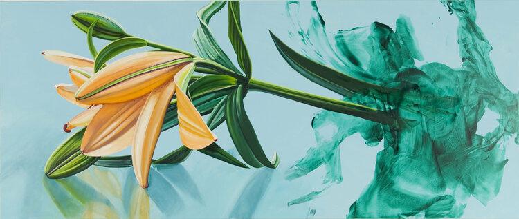 ASFDF Wasserlilie Portrait /Ölgem/älde auf Leinwand Tretchikoff Vladimir Poster und Drucke Skandinavische Kunst Wandbild f/ür Wohnzimmer